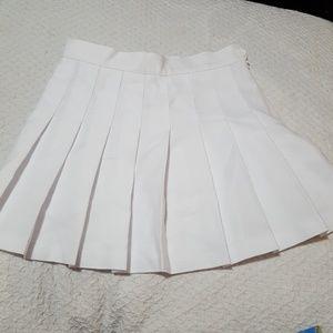 American Apparel White Pleated Tennis Skirt NWT